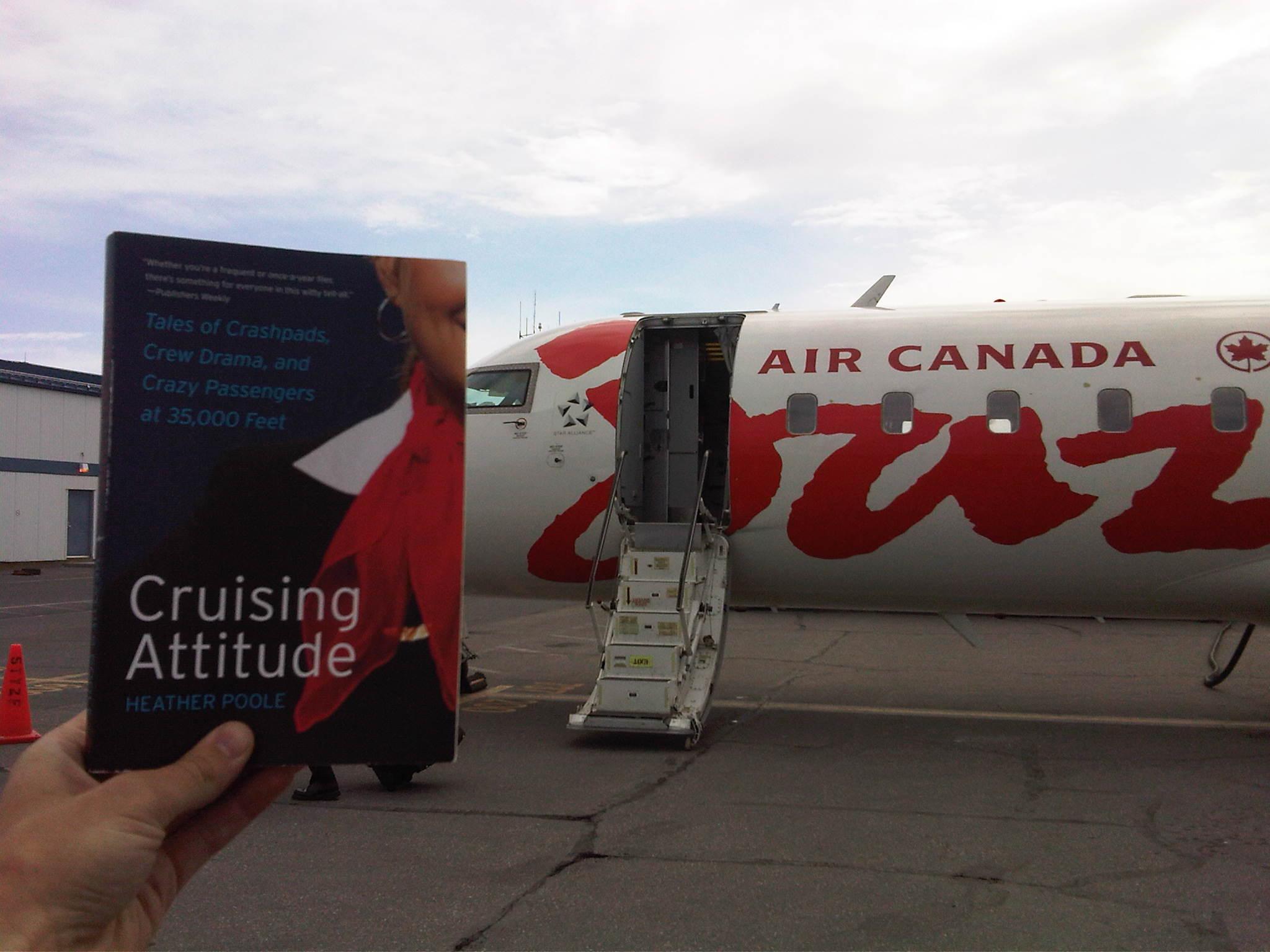 air canada jazz flight crew shows off their cruising attitude
